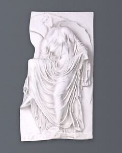 Nike Adjusting Her Sandal Bas-relief - Greek Wall Marble Relief - Small