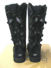 UGG BAILEY BOW WOMEN TALL BOOTS SUEDE BLACK US 5 /UK 3.5/ EU 36 /JP 23