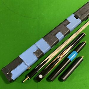 Cuephoria 3/4 Jointed Snooker Pool Cue 9.5mm Tip Case & Extensions - UK Stock