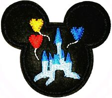 "Disney Castle Patch Mickey Mouse Embroidered Iron On Applique 2.35"" X 2.75"""