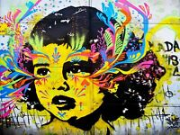 ART PRINT POSTER PHOTO GRAFFITI MURAL STREET ART TRIPPY KID NOFL0360