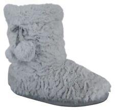 Pantofole da donna grigi senza marca