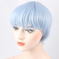 Kuroko Tetsuya Costume Wigs for Men Kuroko no Basket Short Straight Light Blue