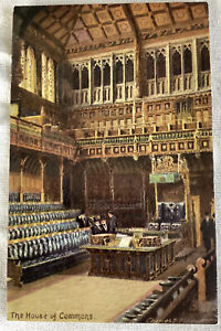 House of parliament Raphael Tuck house of commons Postcard London England # 7906