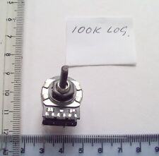 100k Log UK. Made Omeg Petit potentiomètre, avec interrupteur, 4 mm d forme de broche
