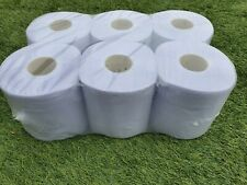 80m BLUE CENTREFEED EMBOSSED ROLL 2Ply 6 rolls Paper Hand Towel Tissue Absorbent