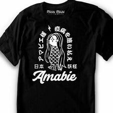 Amabie T-Shirt Yokai Shirt Japanese Monster Mermaid siren Mermay - men - woman