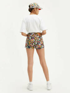 LIMITED EDITION-LEVIS X SUPER MARIO WOMEN'S HIGH RISE SHORTS NEW WITH TAG SIZE24