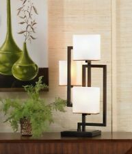 Lighting on the Square Bronze Accent Lamp bedside OPEN BOX