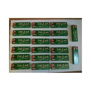 1000 ZIG ZAG GREEN REGULAR ROLLING PAPERS 20 BOOKLETSX 50 PAPERS EACH BOOKLET U