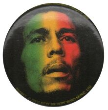 Bob Marley Rastafarian flag photo 1 inch button pin badge Official Merchandise