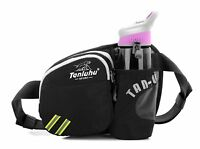 NEW Waist Pack With Water Bottle Holder Belt for Phone Hiking Cycling Travelling
