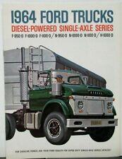 1964 Ford Truck Series F N H 950 1000 1100 Diesel Powered REVISED Sales Brochure