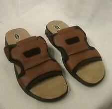 Dr. Scholl's Gordon Men US 10m Brown Slides Sandal Pre Owned  2560