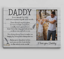 Father's Day Poem From Daughter -Custom Photo Dad Canvas Print- Fathers Day Gift