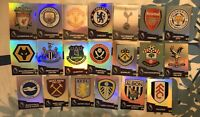 PANINI ADRENALYN XL PREMIER LEAGUE 2020/21 FULL SET OF ALL 20 CLUB BADGE CARDS