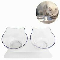 Non-slip Cat Double Bowls with Raised Stand Pet Cat Food Dog Feeder Water Bowl