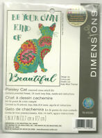Paisley Cat Dimensions Counted Cross Stitch Kit Be your own kind of beautiful