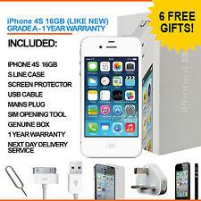 Apple Iphone 4s 16 Gb Blanco Desbloqueado De Fábrica de grado A