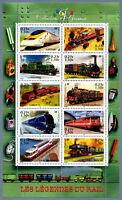 France 2001 BLOC feuillet n° 38 Les Légendes du rail - timbre train neuf