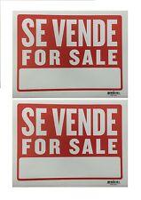 """2 Sign - SE VENDE FOR SALE - Plastic Size: 9"""" x 12""""  2pcs"""