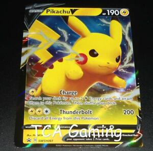 OFF-CENTER Pikachu V SWSH061 ERROR/MISPRINT Promo HOLO Pokemon Card