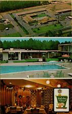 1978 Multi-View Holiday Inn Air Pool Interior Dothan Alabama AL Postcard C2