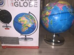 Science Kidz 2 in 1 Illuminated World Globe Light Up  Night Lamp Cordless