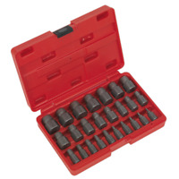 AK8182 Sealey Multi Spline Screw Extractor Set 25pc [Extractors] [Machine Shop]