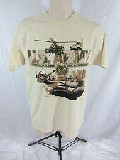 U.S. Army T-Shirt by Mango Tree  - Ivory w/ Army Graphic  - Men's Medium
