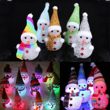 Christmas LED Snowman Santa Claus Ornament Gift Xmas Tree  Light Hanging Decor