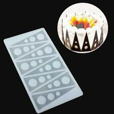 Kitchen Silicone Fondant Cake Mould Chocolate Fence Picks Candy Mold W