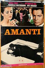 soggettone film AMANTI Marcello Mastroianni Faye Dunaway Vittorio De Sica 1968