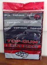 Vintage Top Gun Briefs Men's Small 30-32 Underwear Package of 3 NOS