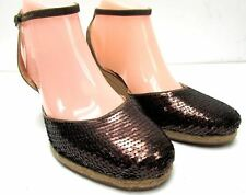 Via Spiga women's size 8 M larky high heel wedge shoes ankle strap