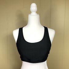 90 Degree by Reflex Women's L Black Medium Support Geometric Cutout Sports Bra