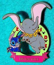 LILIO & STITCH & DUMBO THE ELEPHANT BIG EAR PRIZE GREEN WDP PIN