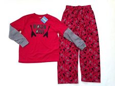 NWT Gymboree Sz 6 Rock On Guitar Skull Red Double Sleeve Two-Piece Pajamas