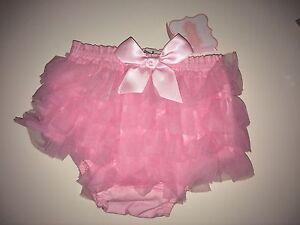 Mud Pie Baby Girl's Chiffon Bloomer, Pink, 0-6 Months