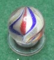 "Marbles: Antique 43/64"" German Hand Made Thin Twisted Double Ribbon Core Swirl"