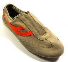 DKNY 23437113 Women's Tan Leather/Man Made Slip On Walking Athletic Sneaker 7M