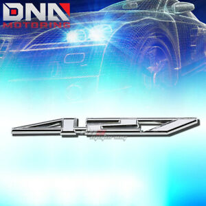 FOR 427 Z06 7.0 STICK ON 3D POLISH CHROME AUTO BODY METAL EMBLEM TRIM BADGE LOGO