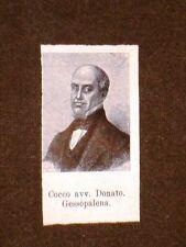 Deputato 1861 Donato Cocco di Gessopalena + Carlo Alfieri di Magliano di Caluso