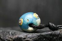 Perle de verre oeil Viking antique, artefact antique unique, 600-1100 AD