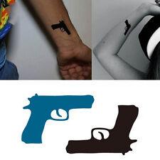 5PCS Cool Gift Water Pistol Temporary Gun Shaped Sticker Body Art Tattoo Sticker