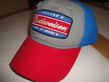 Distressed-Look BUDWEISER KING OF BEERS HAT Relaxed Red/White/Gray/Blue Patch