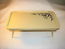 Vintage Artex Butlerette Folding TV Bed Tray Beige Cream Brooklyn NY Mid Century