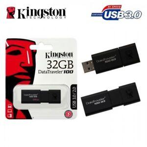 Kingston 32GB USB 3.0 STICK SPEICHERSTICK 100MB/s super schnell NEUWARE Rechnung
