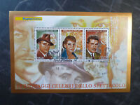 2007 ITALY ENTERTAINERS GIGILI, CALLAS, NAZZARI 3 STAMP MINI SHEET USED