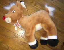 Rudolph The Red-Nosed Reindeer Collectible Plush With Sound Dated 1999